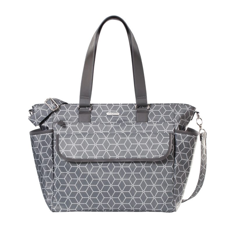 Joissy, Torba dla mamy FANCY geometric grey