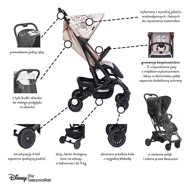 Easywalker Buggy Xs W 243 Zek Spacerowy Minnie Ornament