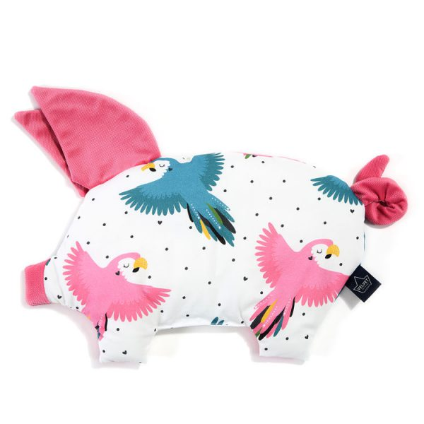 La Millou - PODUSIA SLEEPY PIG - CANDY PARROT - FLORIDA PINK - VELVET COLLECTION